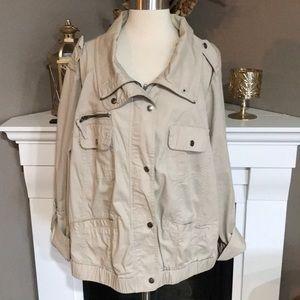 Style & Co. Tan  Cargo Jacket